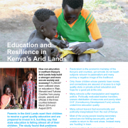 Education and Resilience in Kenya Arid Lands